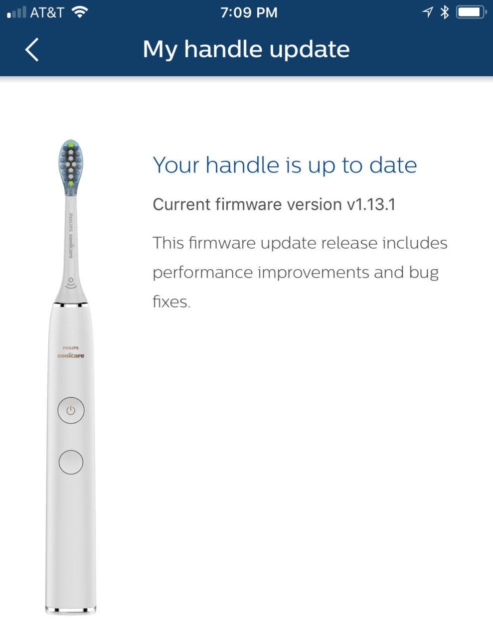 обновление прошивки зубной щетки