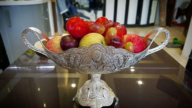 Турецкая ваза для фруктов, конфет, красиво, не? #ваза #натюрморт #фрукты // #naturmort #vase #fruits #stilllife